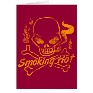 Smoking Hot Skull Greeting Card