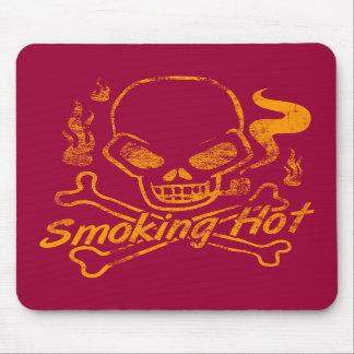 Smoking Hot Skull Mouse Pad
