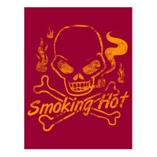 Smoking Hot Skull Postcard