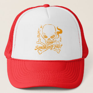 Smoking Hot Skull Trucker Hat