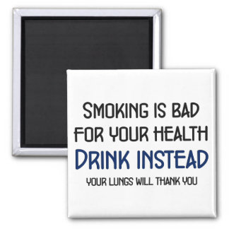 Smoking is bad for your health 2 inch square magnet