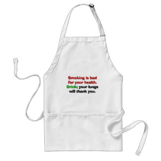 Smoking is bad for your health adult apron