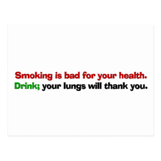 Smoking is bad for your health postcard