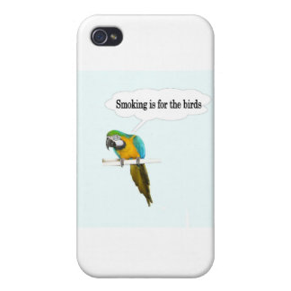 Smoking is for the birds iPhone 4 cover