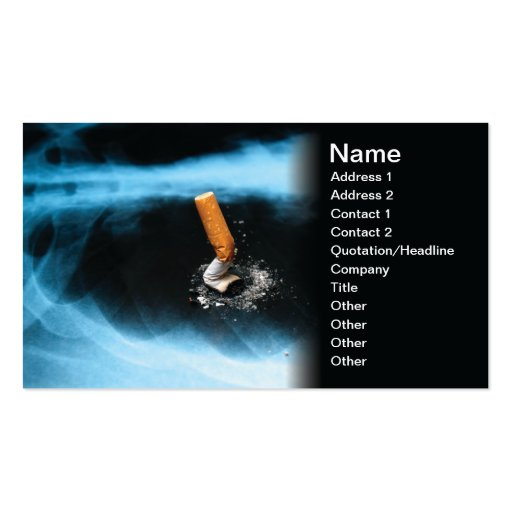 Smoking issues Double-Sided standard business cards (Pack of 100)