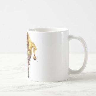 Smoking Jester Skull Coffee Mug