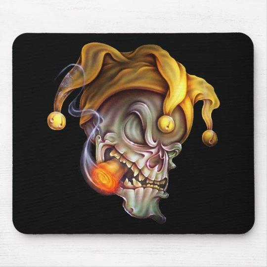 Smoking Jester Skull Mouse Pad