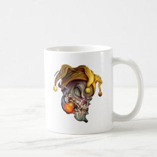 Smoking Jester Skull Mug