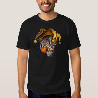 Smoking Jester Skull T Shirt