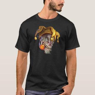 Smoking Jester Skull T-Shirt