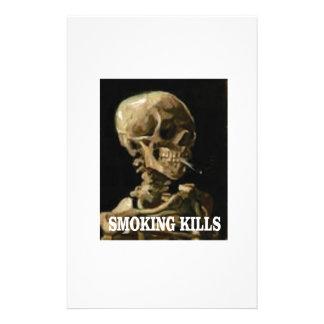 smoking kills bones stationery