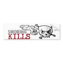 Smoking Kills Bumpersticker Bumper Sticker