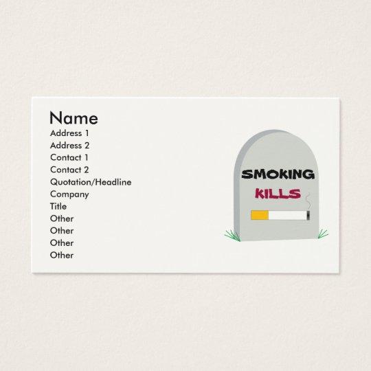 Smoking Kills, business card