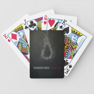 Smoking Kills Hanging Rope Bicycle Playing Cards