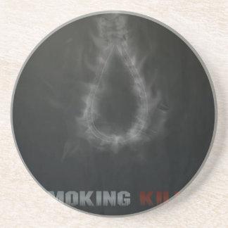 Smoking Kills Hanging Rope Drink Coaster