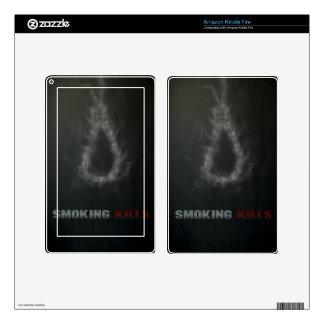 Smoking Kills Hanging Rope Kindle Fire Decal