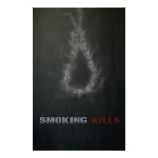 Smoking Kills Hanging Rope Stationery