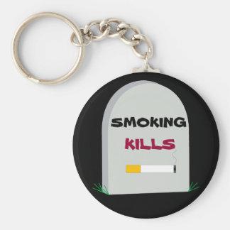 smoking kills keychain
