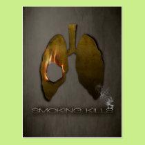 Smoking Kills Lungs Postcard