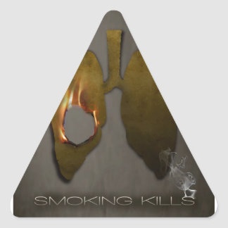 Smoking Kills Lungs Triangle Sticker