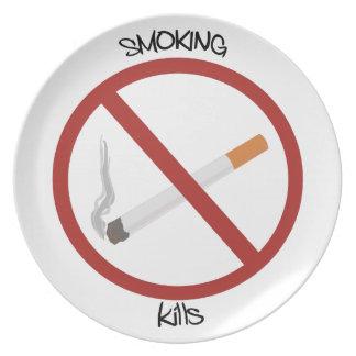Smoking Kills Party Plates