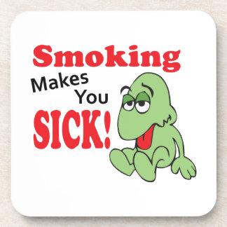 SMOKING MAKES YOU SICK DRINK COASTERS