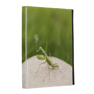 Smoking mantis iPad folio cases