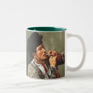 Smoking Matador Two-Tone Coffee Mug