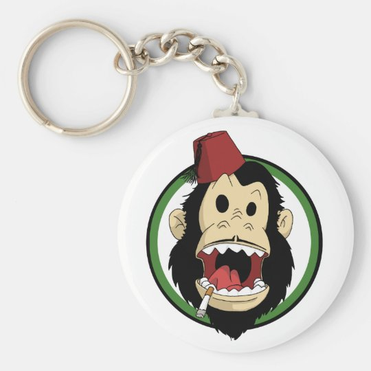 smoking monkey keychain