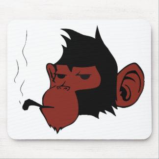 Smoking Monkey Mouse Pad