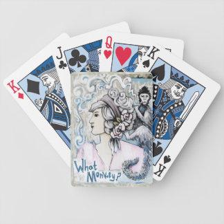 Smoking Monkey Playing Cards