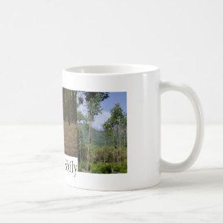 Smoking Mt Etna Through the Trees Coffee Mug