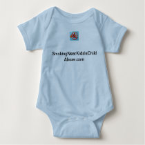 Smoking Near Kids Is Child Abuse baby creeper. Baby Bodysuit