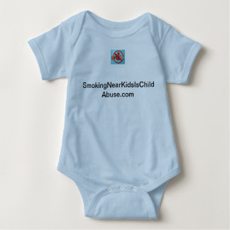 Smoking Near Kids Is Child Abuse baby creeper. T Shirt
