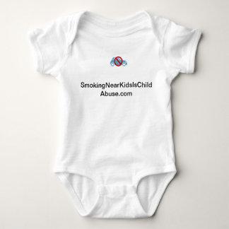 Smoking Near Kids Is Child Abuse baby creeper. Tshirt