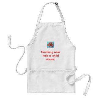 Smoking near kids is child abuse! gifts adult apron