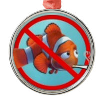Smoking near kids is child abuse! gifts metal ornament