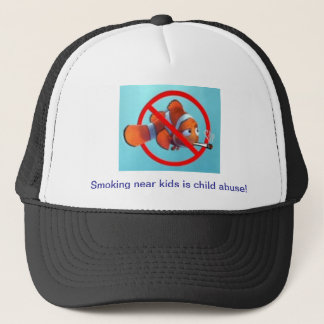 Smoking near kids is child abuse! gifts trucker hat