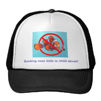 Smoking near kids is child abuse! gifts trucker hat