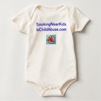 Smoking near kids is child abuse infant shirt