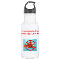 Smoking near kids is child abuse! water bottle