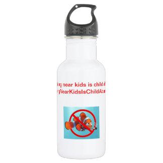 Smoking near kids is child abuse! water bottle