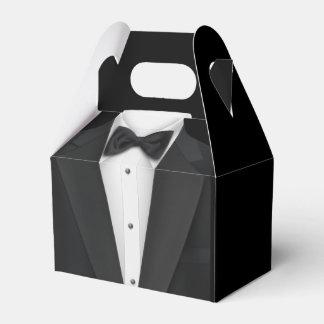 Smoking negro caja para regalo de boda