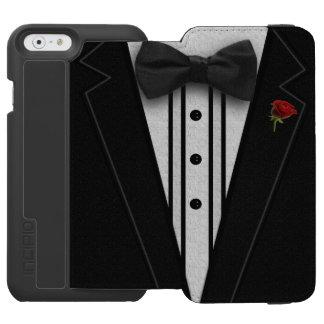 Smoking negro con la pajarita funda cartera para iPhone 6 watson