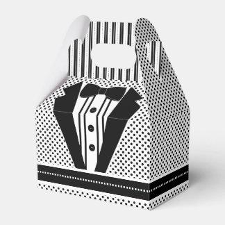 Smoking negro formal paquete de regalo para bodas