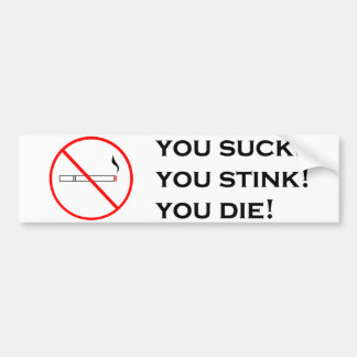 Smoking, Not Attractive! Bumper Sticker