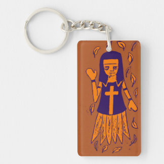 Smoking Nun keychain