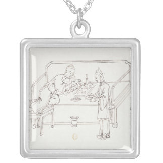 Smoking Opium Silver Plated Necklace