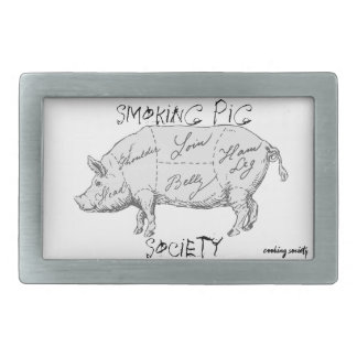"""Smoking Pig Society"" Belt Buckle"