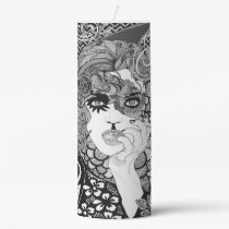 Smoking Pillar Candle